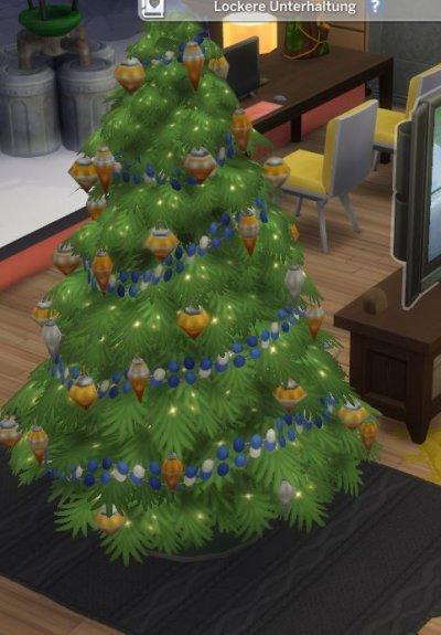 Weihnachtsbaum ohne Decke und Geschenkeberg.JPG
